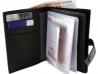 Автобумажник водителя с отделением для паспорта, денег, карт с красной прошивкой